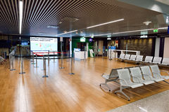 Intérieur d'aéroport de Fiumicino Image stock