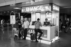Intérieur d'aéroport de Fiumicino Photographie stock libre de droits