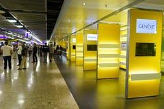 Intérieur d'aéroport de Genève Images libres de droits