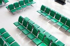 Intérieur d'aéroport de hall de attente, vue supérieure Image libre de droits
