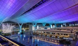 Intérieur d'aéroport de Haneda à Tokyo, Japon Photo stock