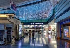 Intérieur d'aéroport de Haneda à Tokyo, Japon Photographie stock
