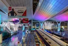 Intérieur d'aéroport de Haneda à Tokyo, Japon Photos stock