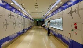 Intérieur d'aéroport de Haneda à Tokyo, Japon Photos libres de droits