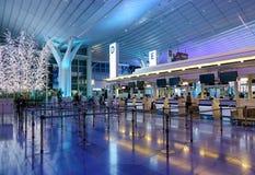 Intérieur d'aéroport de Haneda à Tokyo, Japon Images libres de droits