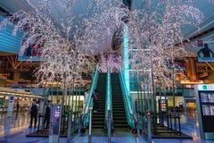 Intérieur d'aéroport de Haneda à Tokyo, Japon Photographie stock libre de droits