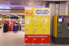 Intérieur d'aéroport de Helsinki Images stock