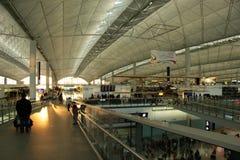 Intérieur d'aéroport de Hong Kong Photo libre de droits