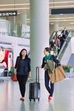 Intérieur d'aéroport de Hongqiao, Changhaï, Chine Image stock