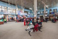Intérieur d'aéroport de Katmandou Image libre de droits