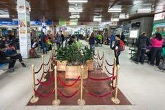 Intérieur d'aéroport de Katmandou Photographie stock libre de droits