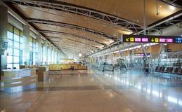 Intérieur d'aéroport de Madrid Image libre de droits