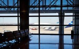 Intérieur d'aéroport de Madrid Images libres de droits