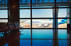 Intérieur d'aéroport de Madrid Images stock