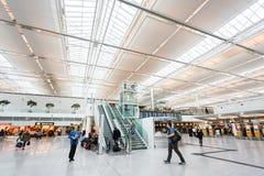 Intérieur d'aéroport de Munich Photos libres de droits
