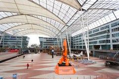Intérieur d'aéroport de Munich Images libres de droits