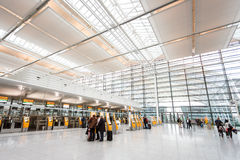 Intérieur d'aéroport de Munich Image libre de droits