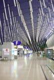 Intérieur d'aéroport de Pudong Image stock