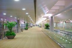 Intérieur d'aéroport de Pudong Photographie stock