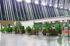Intérieur d'aéroport de Pudong Images libres de droits