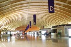 Intérieur d'aéroport de Pudong Photos libres de droits
