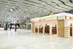 Intérieur d'aéroport de Pulkovo Photographie stock