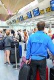 Intérieur d'aéroport de Pulkovo Image libre de droits