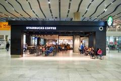 Intérieur d'aéroport de Pulkovo Image stock