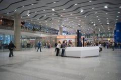 Intérieur d'aéroport de Pulkovo Photos stock