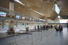 Intérieur d'aéroport de Pulkovo Images stock
