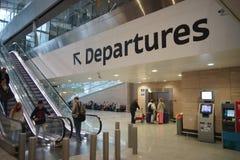 Intérieur d'aéroport de Pulkovo Photo libre de droits