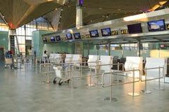 Intérieur d'aéroport de Pulkovo Photos libres de droits