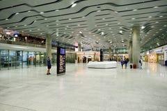 Intérieur d'aéroport de Pulkovo Photographie stock libre de droits