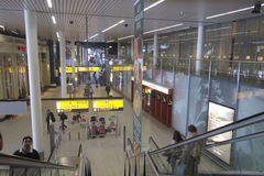 Intérieur d'aéroport de Schiphol, intérieur d'aéroport de Schiphol le 6 octobre 2012 à Amsterdam, Pays-Bas Photo libre de droits
