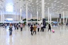 Intérieur d'aéroport de Shenzhen Photographie stock libre de droits