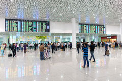 Intérieur d'aéroport de Shenzhen Photos libres de droits