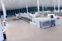 Intérieur d'aéroport de Shenzhen Images libres de droits