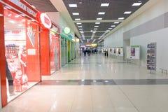 Intérieur d'aéroport de Sheremetyevo Photographie stock libre de droits