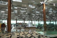 Intérieur d'aéroport de Singapour Changi Photos libres de droits