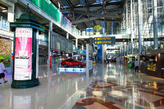 Intérieur d'aéroport de Suvarnabhumi Photographie stock libre de droits