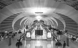 Intérieur d'aéroport de Suvarnabhumi Photo stock