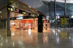 Intérieur d'aéroport de Valence Image stock