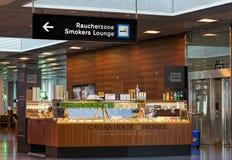 Intérieur d'aéroport de Zurich Images libres de droits
