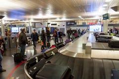 Intérieur d'aéroport international d'Oslo Gardermoen Images libres de droits