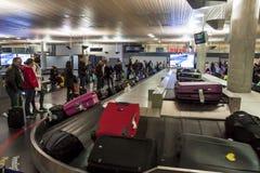 Intérieur d'aéroport international d'Oslo Gardermoen Image libre de droits