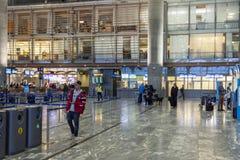 Intérieur d'aéroport international d'Oslo Gardermoen Photo libre de droits