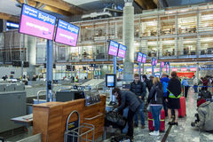 Intérieur d'aéroport international d'Oslo Gardermoen Images stock