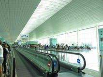Intérieur d'aéroport international de Barcelone Images stock
