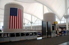 Intérieur d'aéroport international de Denver Photo libre de droits