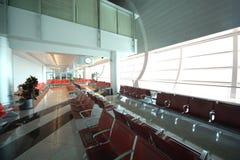 Intérieur d'aéroport international de Dubaï Images libres de droits